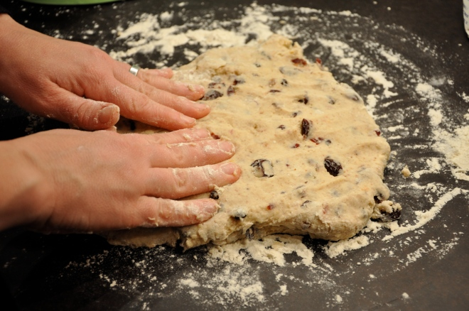 Press the dough out on a floured surface (we like paperstone!)