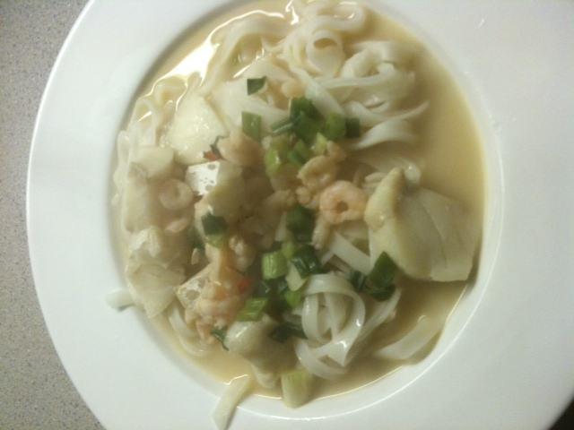 Springtime Thai seafood