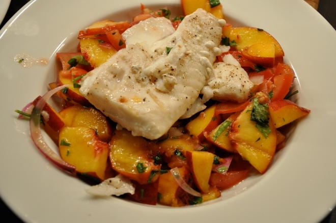 Grilled Halibut Fish Dish