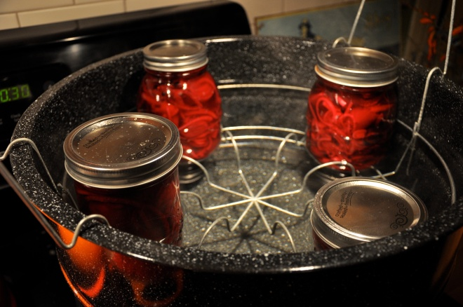 Pickling Beets in a Basket