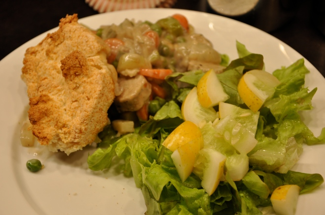 Pot Pie and Foraged Salad