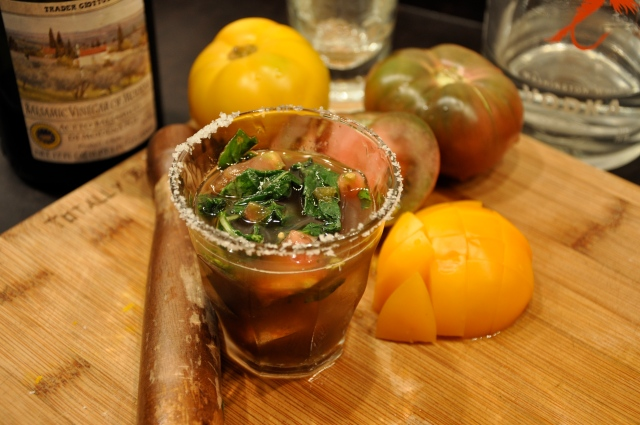 Dry Fly Vodka & Heirloom Tomato Cocktail