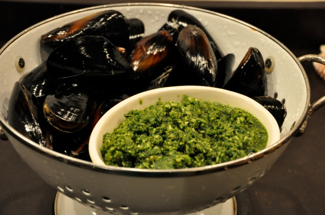 Curry Paste and Mussels
