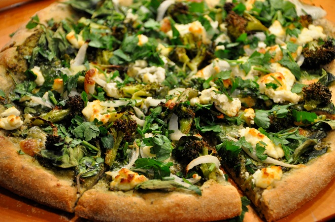 Green Pizza, Hot off the Stone