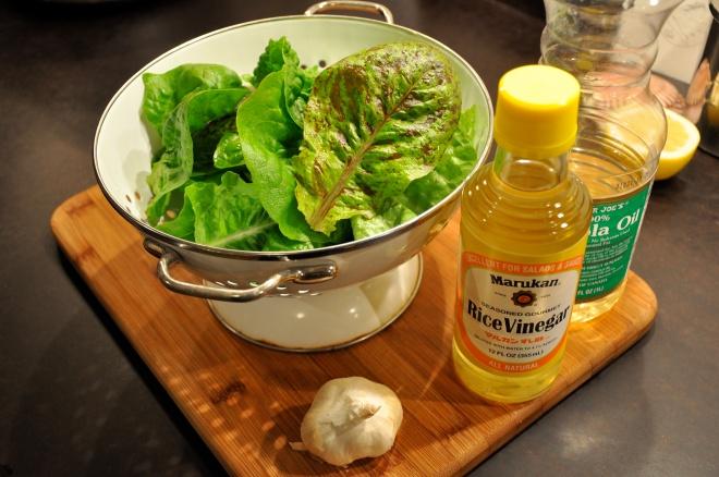 Fresh Lettuce & Salad Dressing Makings