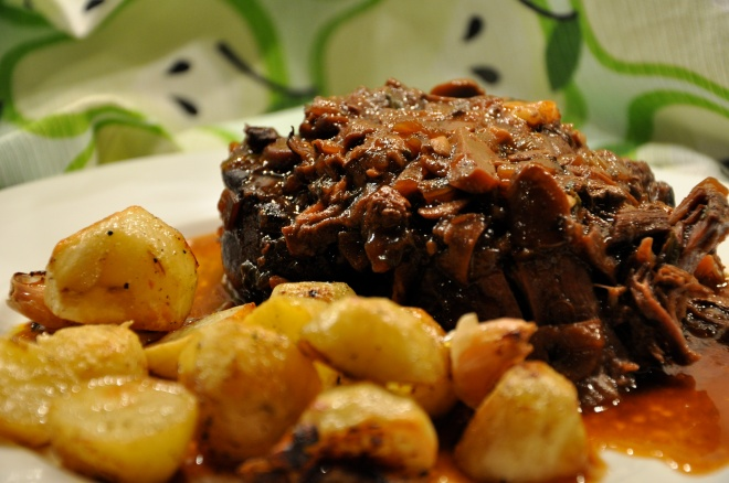 Red Wine & Porcini Pot Roast with June's Red Potatoes