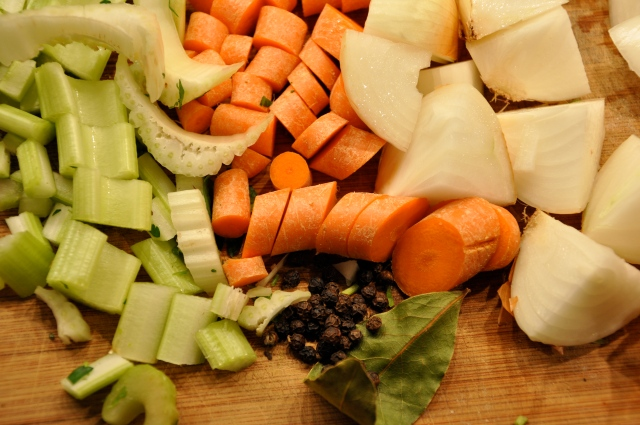 Roughly Chopped Broth-Making Vegetables