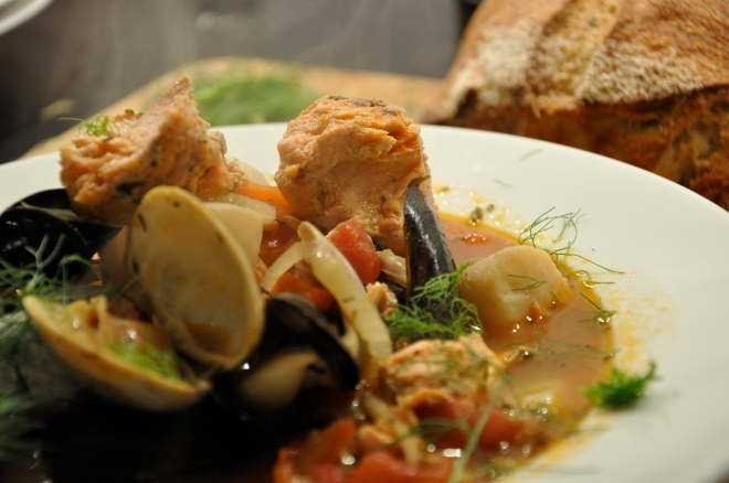 Seafood Stew is Served