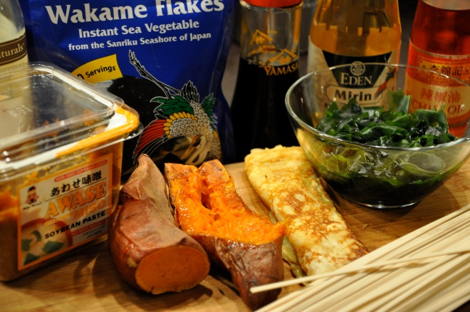 Miso, Tamago, Sweet Potatoes, Wakame & Udon Noodles
