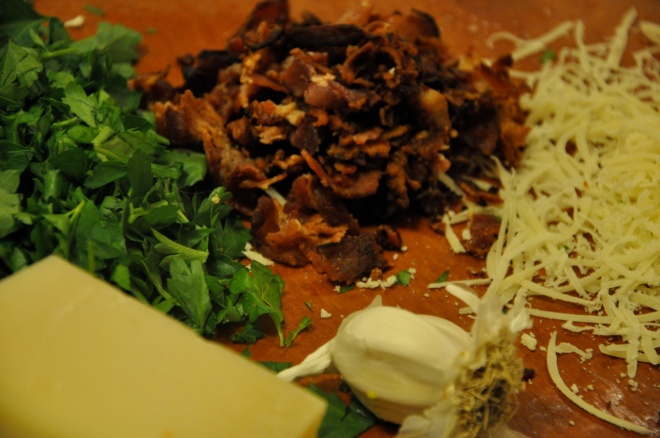 Carbonara Toppings - Bacon, Flat Leaf Parsley, Parmesan & Garlic
