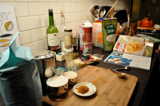 Christmas Cookies - The Ingredients Are Gathered