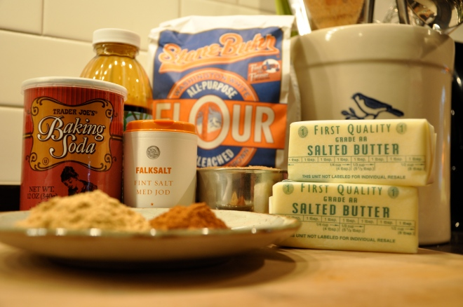 Gingerbread Cookie Ingredients
