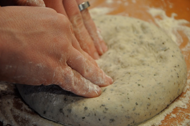 Pressing Out the Dough