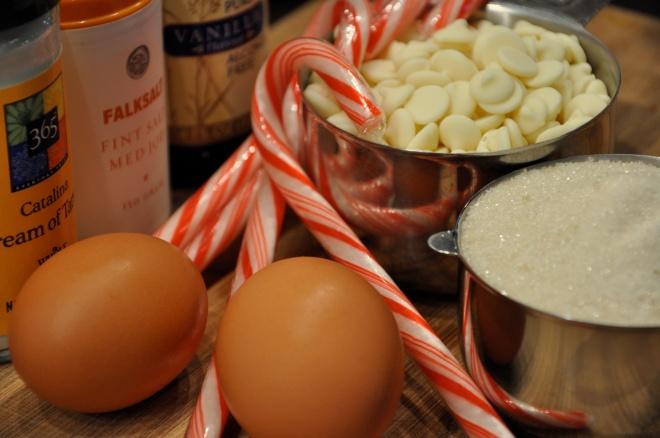Ingredients for Peppermint Meringues