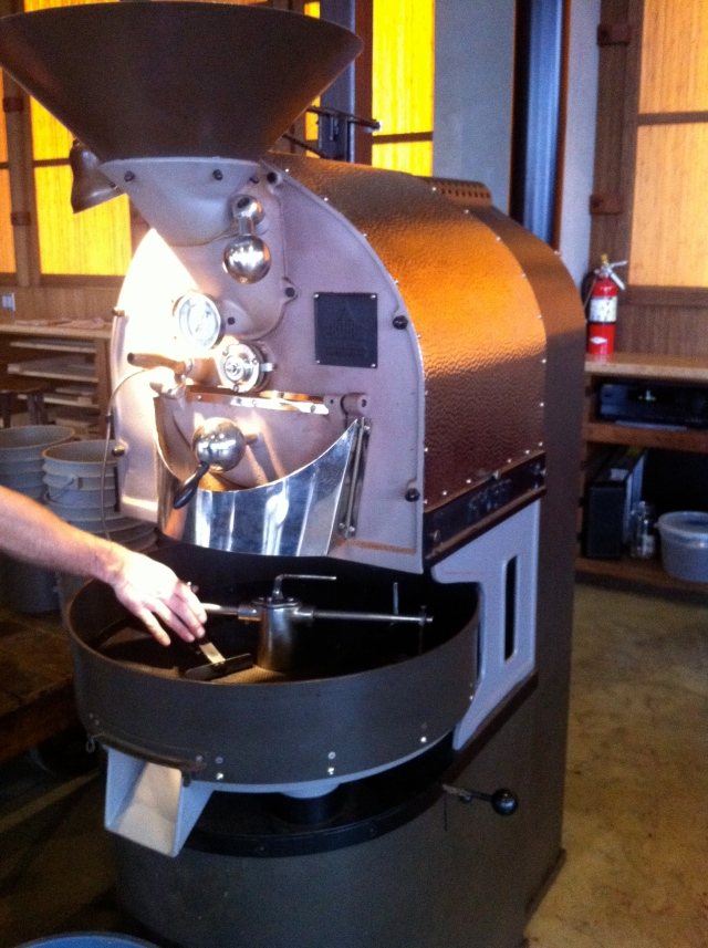 Coffee Roaster on the Floor at Coava in Portland, OR