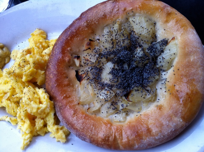 Onion Bialy with Poppy Seeds - Kenny and Zuke's