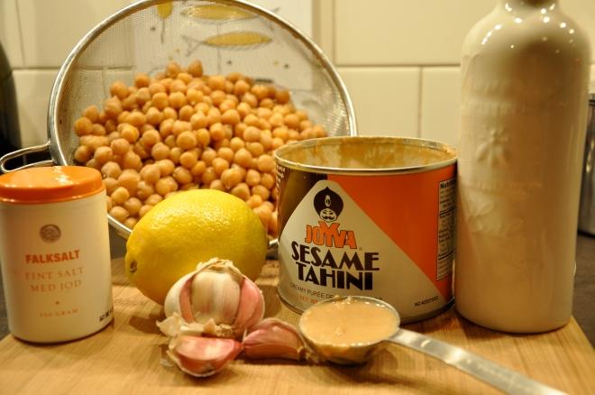 Hummus Wrap Ingredients