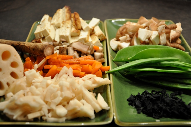 Burdock, Lotus Root, Tofu, Snow Peas and More