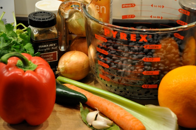 Black Bean and Vegetable Soup Ingredients