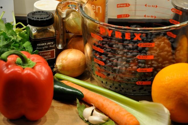Black Bean and Vegetable Soup Ingredients