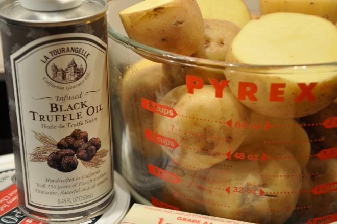 Black Truffle Oil, Mascarpone, Butter and Potatoes