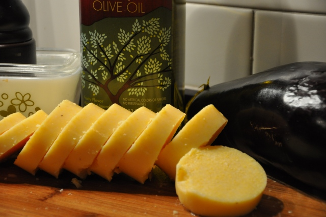Saucy Red Grilled Eggplant and Polenta Ingredients