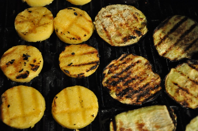 Grill Up the Polenta and Eggplant