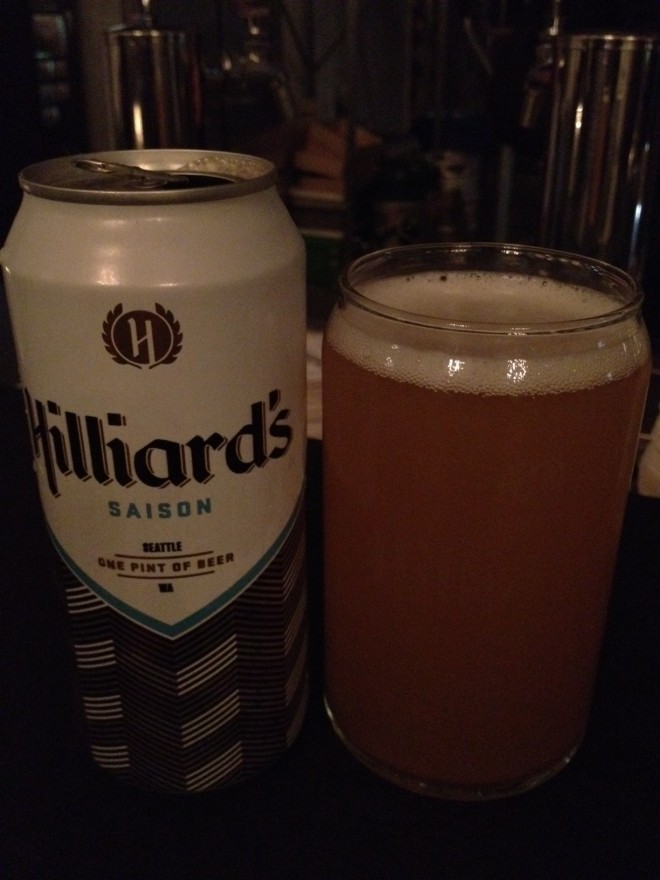 Hiliard's Saison Beer - Check Out the Cool Rounded Glass