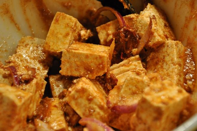 Marinating Tofu