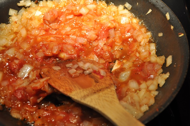 Sautee Onions with Tomatoes and Tomato Paste