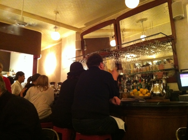 Inside Prune, Up at the Bar