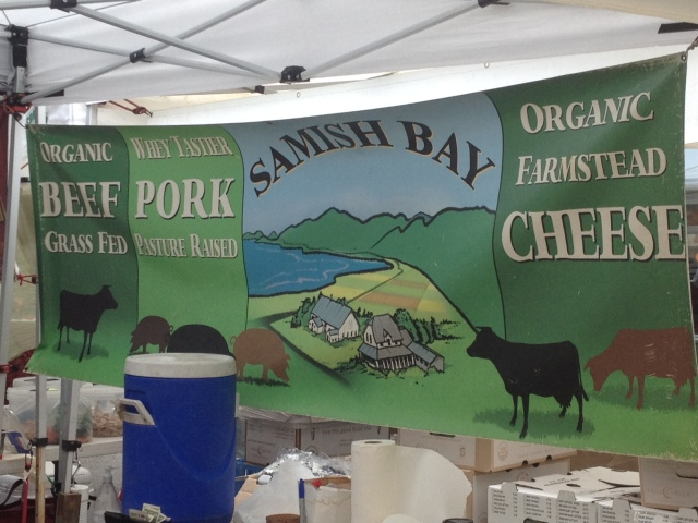 Samish Bay Meats at the Farmer's Market in Ballard