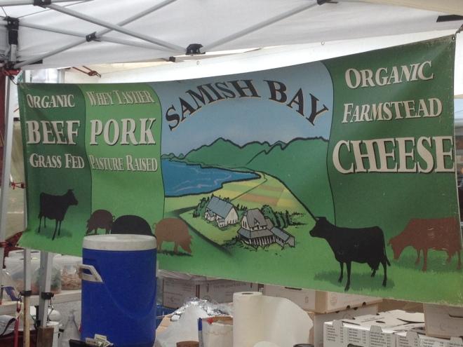 Samish Bay Meats at the Farmer's Market in Ballard