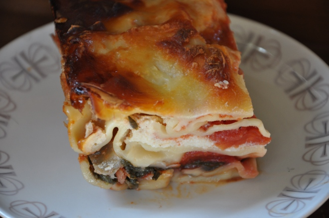 Swiss Chard Lasagne with Mushrooms and Onions