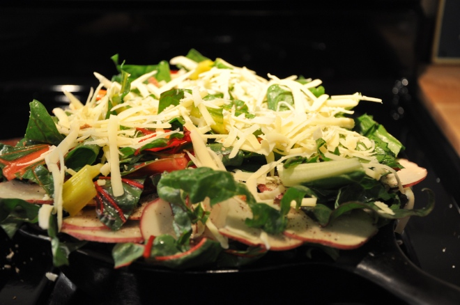 Cheese and Chard Layer