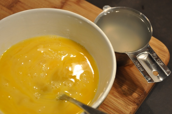 Mix the Eggs and Pasta Water