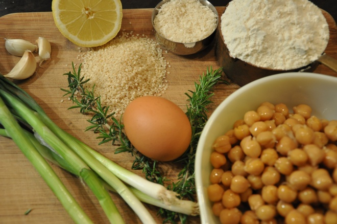 Chickpea Fritter Ingredients