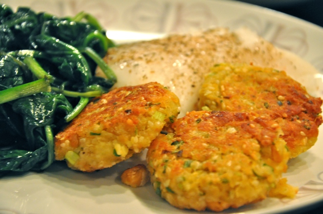 Light, Lemony, Delicious Chickpea Fritters