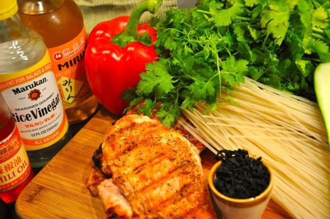 Simple Rice Noodle Salad Ingredients