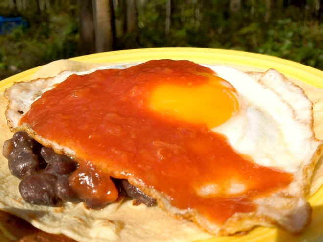Black Bean, Fresh Egg Tacos