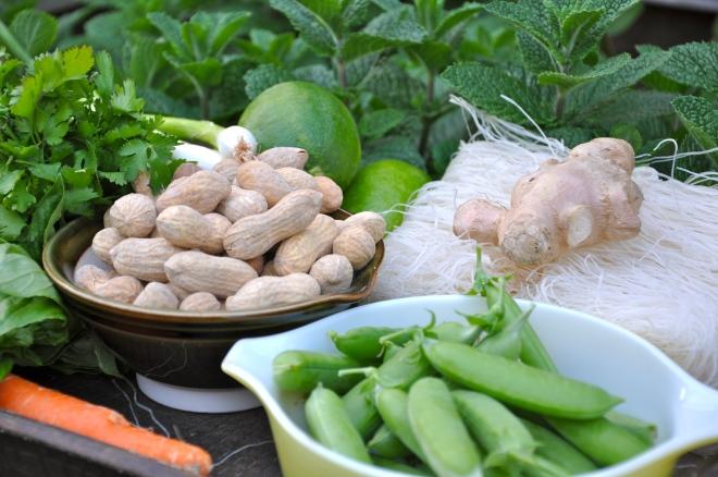 Garden-Fresh Noodle Bowl Ingredients