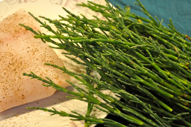 Sea Beans and Halibut