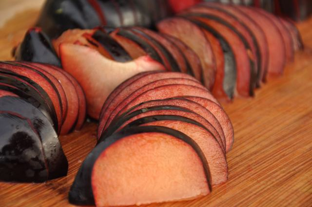 Sliced Plums (Nice Lines!)