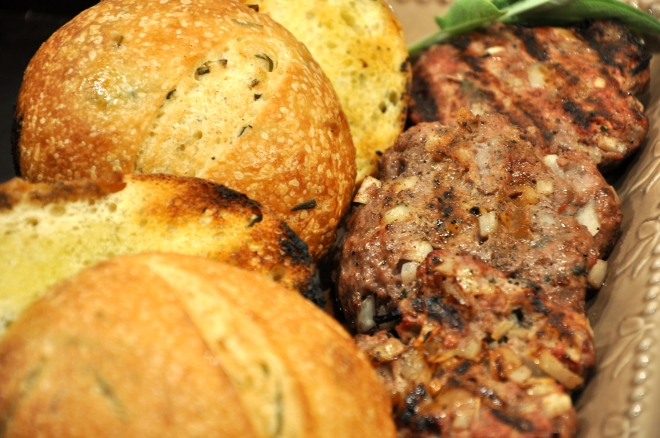 BBQ Burgers and Rosemary Buns from Essential