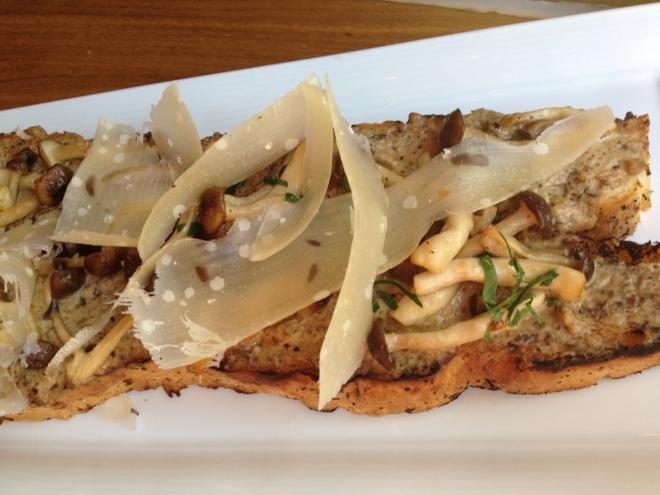 A Mushroom Pate 'Bruschetta'