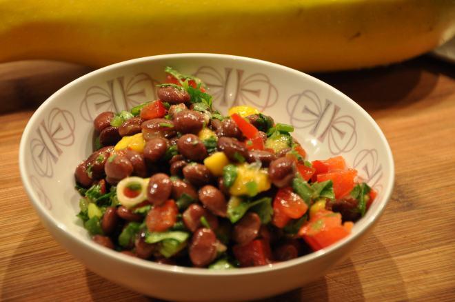 Refreshing Black Bean, Mango & Mint Salad