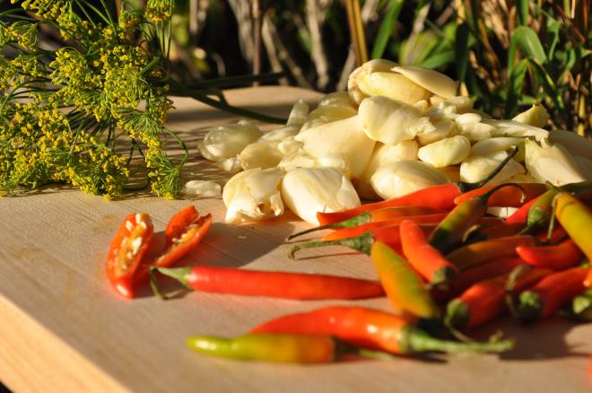 Red Peppers, Garlic & Dill
