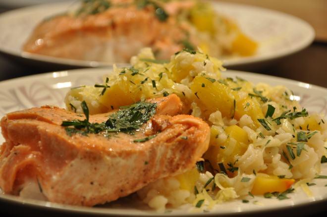 Pan-Seared King Salmon with Tarragon Butter