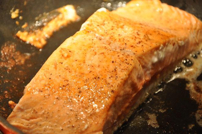 Pan-Seared King Salmon