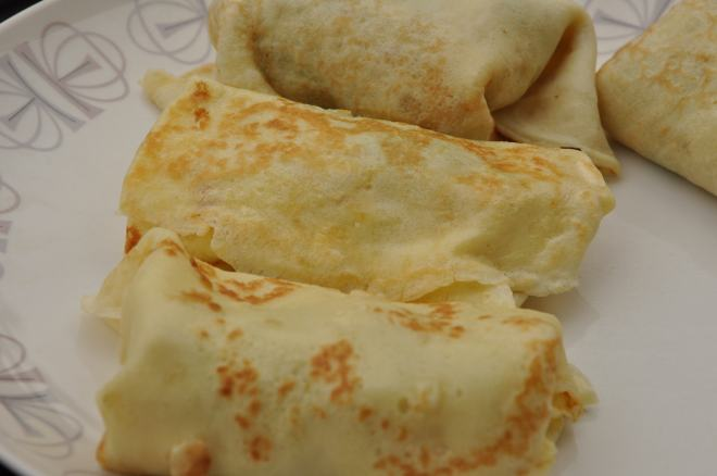 Savory Crepes with Sumer Squash